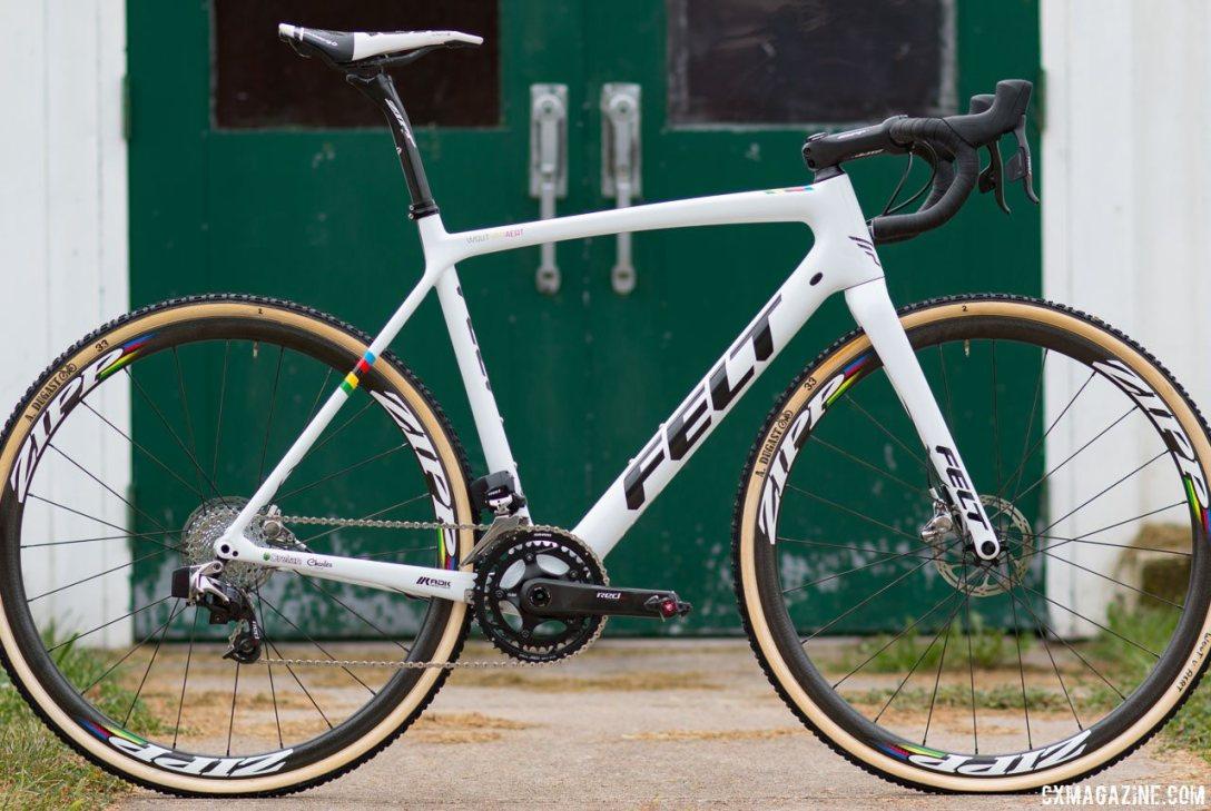 Wout van Aert's carbon Felt cyclocross bike. © Cyclocross Magazine